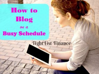 How to Blog on a Busy Schedule