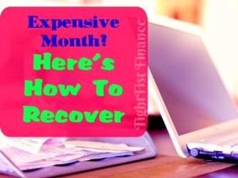 How to Recover From a Bad Financial Month