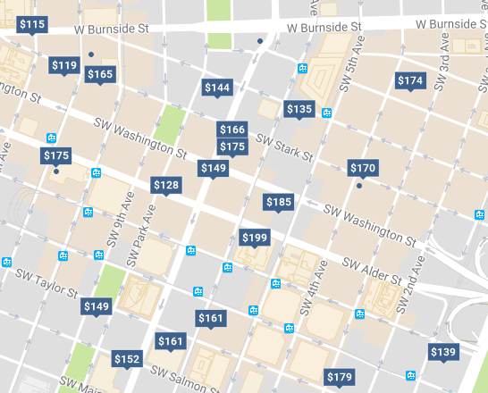 Don't book your travel plans for downtown locations
