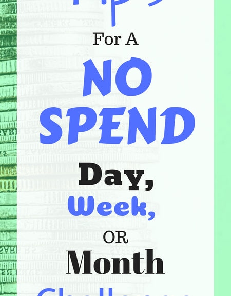 Tips for a no spend day, week, or month challenge
