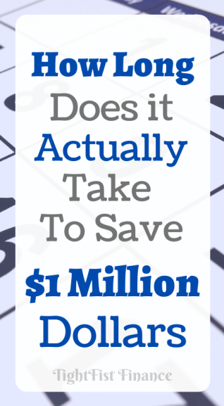How long does it actually take to save $1 million dollars?