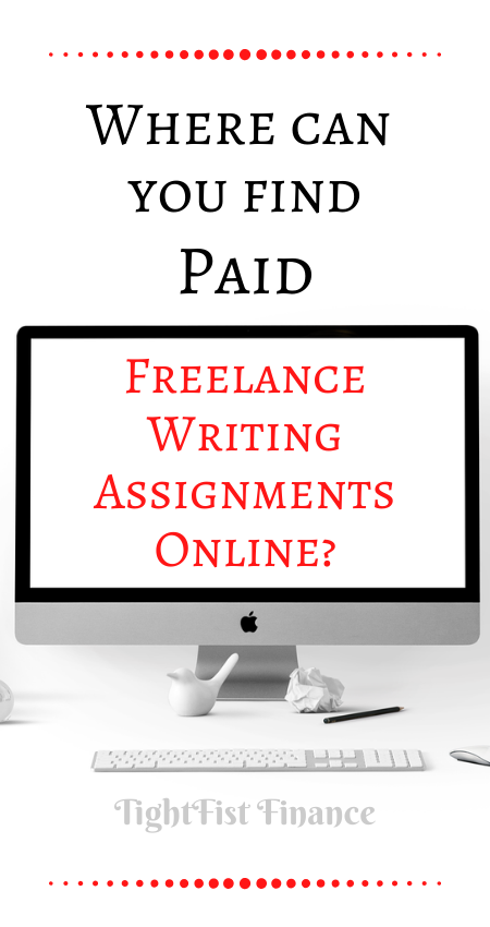 Where can you find paid freelance writing assignments online
