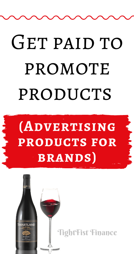 Get paid to promote products (Advertising products for brands)