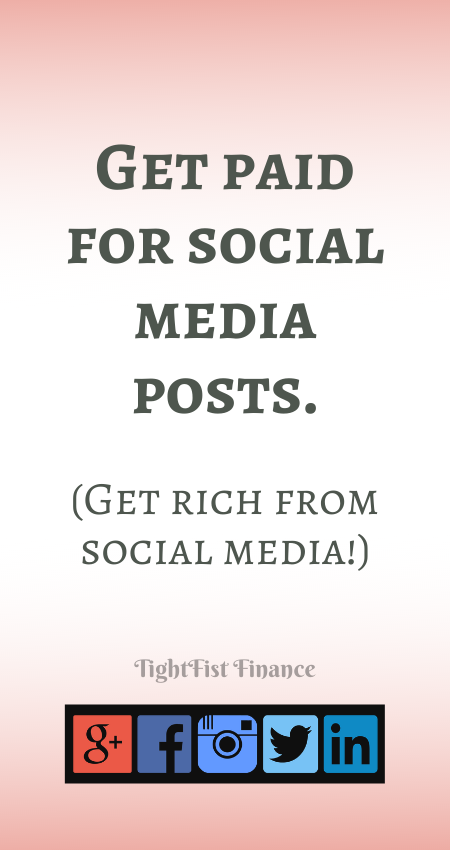 Get paid for social media posts. (Get rich from social media!)(1)