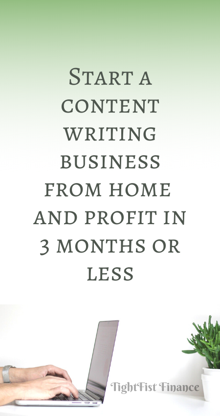 Start a content writing business from home and profit in 3 months or less
