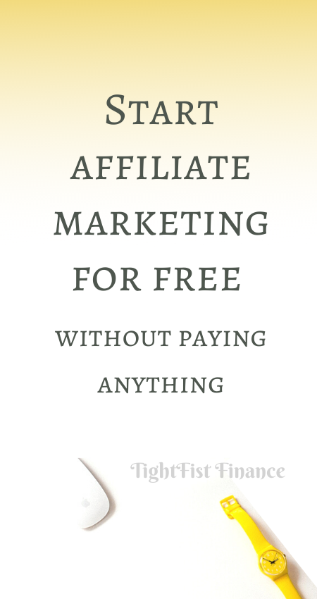 Start affiliate marketing for free without paying anything