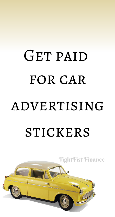 20-101 - Get paid for car advertising stickers