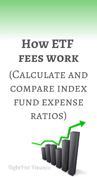 How ETF fees work. (Calculate and compare index fund expense ratios)