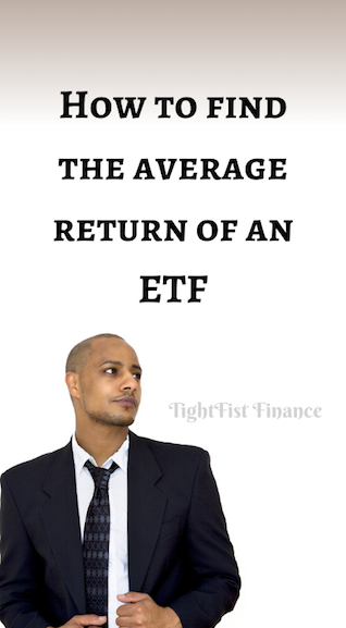 How to find the average return of an ETF