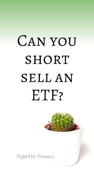 Can you short sell an ETF?