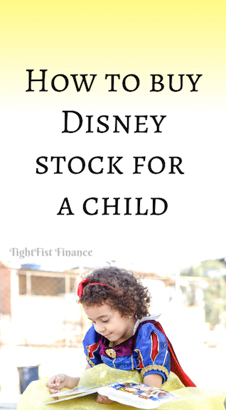 How to buy Disney stock for a child