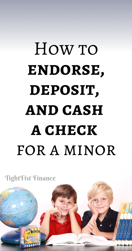 21-103 - How to endorse, deposit, and cash a check for a minor