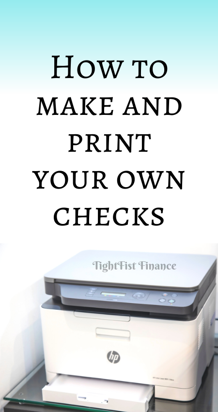 21-105 - How to make and print your own checks