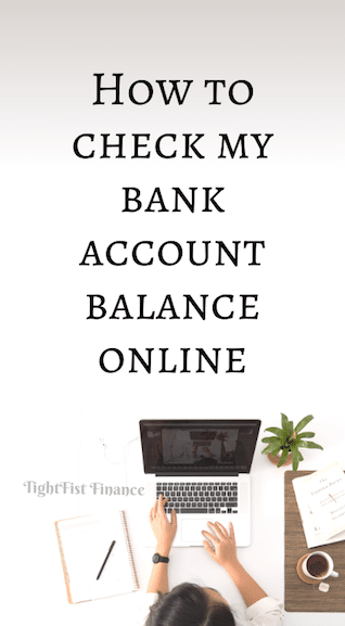How to check my bank account balance online