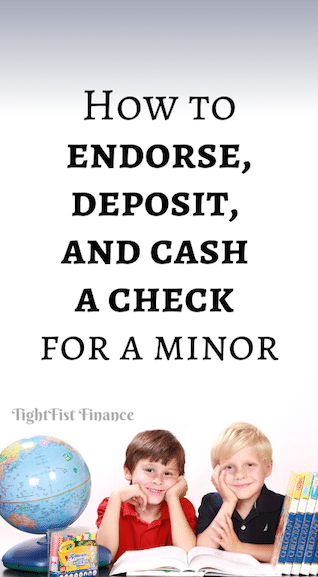 How to endorse, deposit, and cash a check for a minor