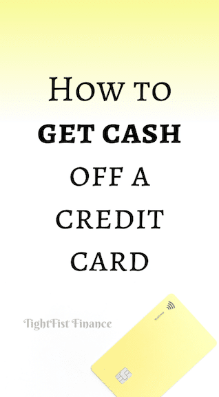 How to get cash off a credit card
