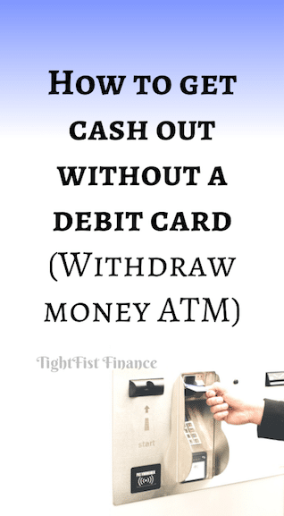 How to get cash out without a debit card (Withdraw money ATM)