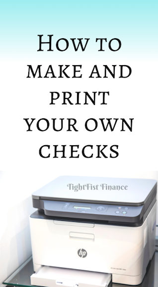 How to make and print your own checks