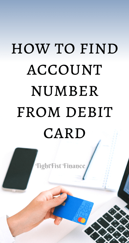 21-124 - how to find account number from debit card