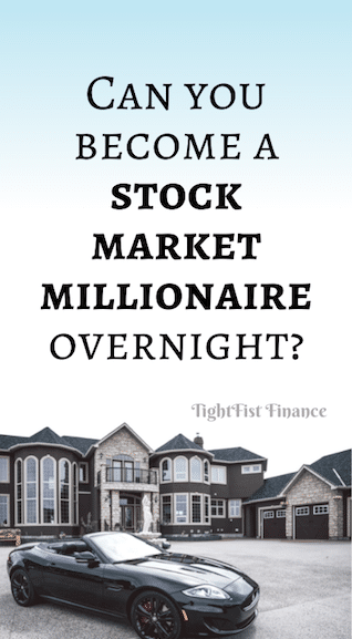 Can you become a stock market millionaire overnight?