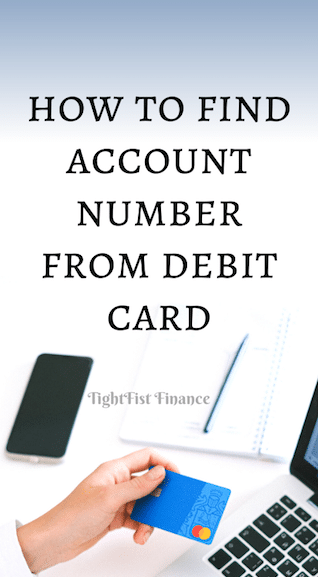 How to find account number from debit card