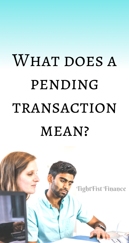 21-127 - What does a pending transaction mean