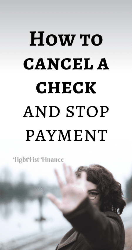 21-132 - How to cancel a check and stop payment