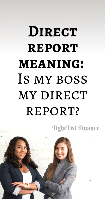 21-144 - Direct report meaning Is my boss my direct report