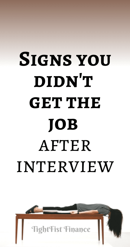 21-148 - Signs you didn't get the job after interview
