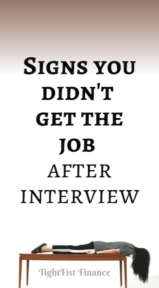 Signs you didn't get the job after interview