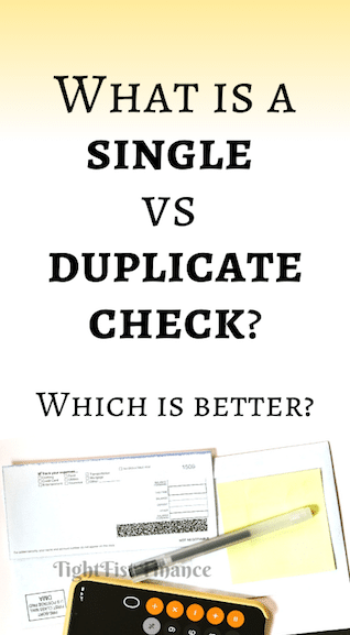 What is a single vs duplicate check? Which is better?
